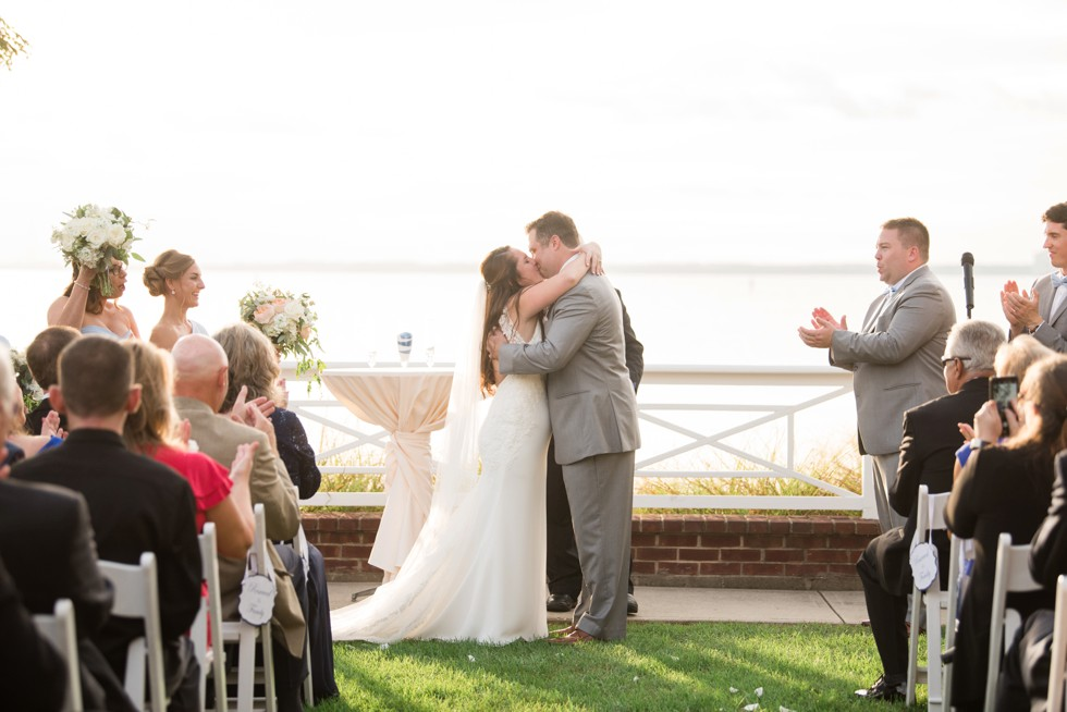Chesapeake Bay Beach Club eastern shore wedding ceremony