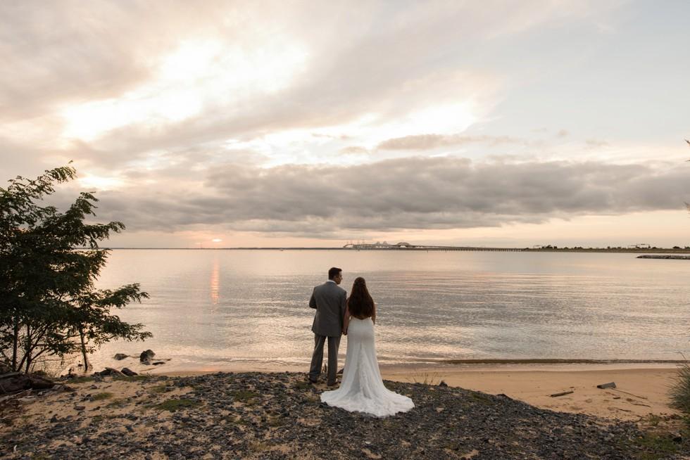 Chesapeake Bay Beach Club sunset wedding photo