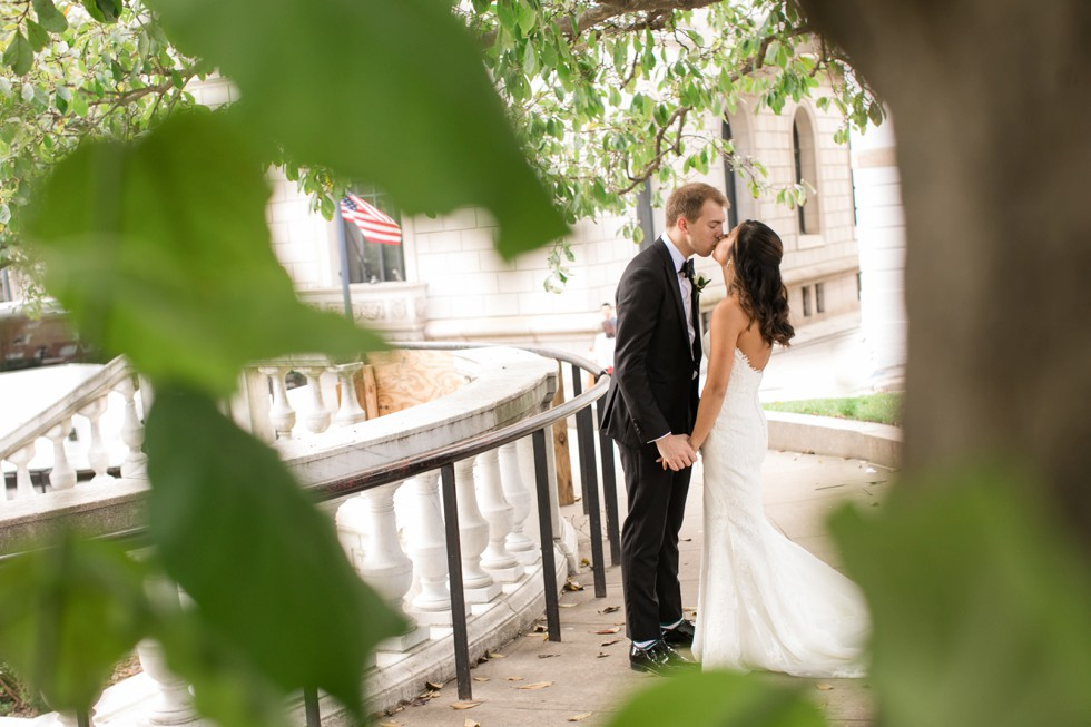 Mount Vernon Place Park George Peabody Library wedding