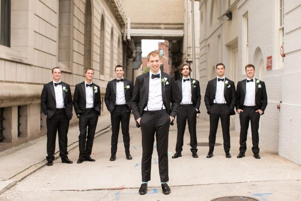 Mount Vernon Baltimore groom and groomsmen