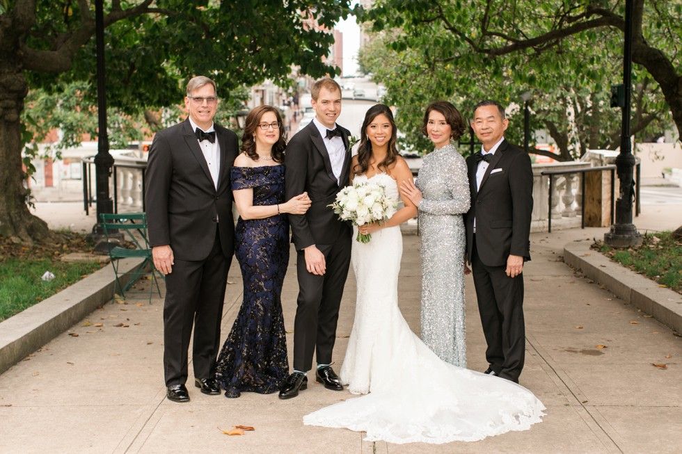 George Peabody Library wedding family portraits