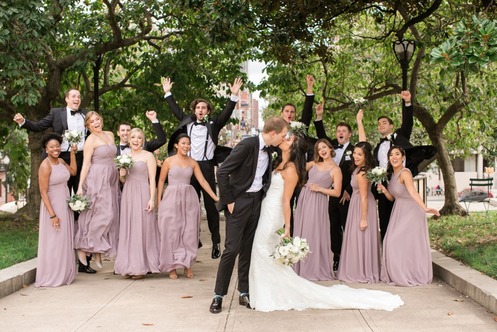 George Peabody Library wedding party portraits