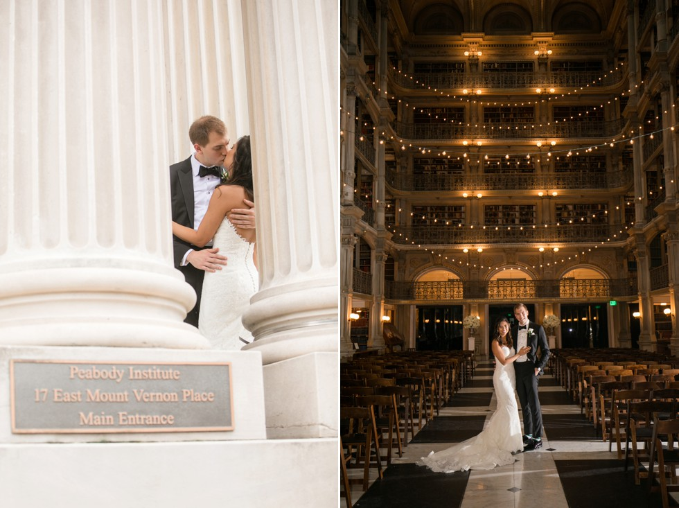 Baltimore George peabody library bride and groom