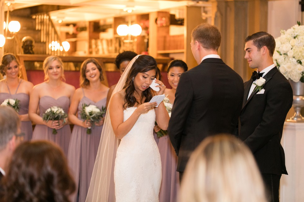 Baltimore George peabody library wedding ceremony