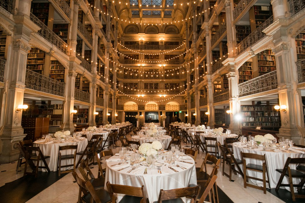 Flowers and Fancies florals at Peabody Library