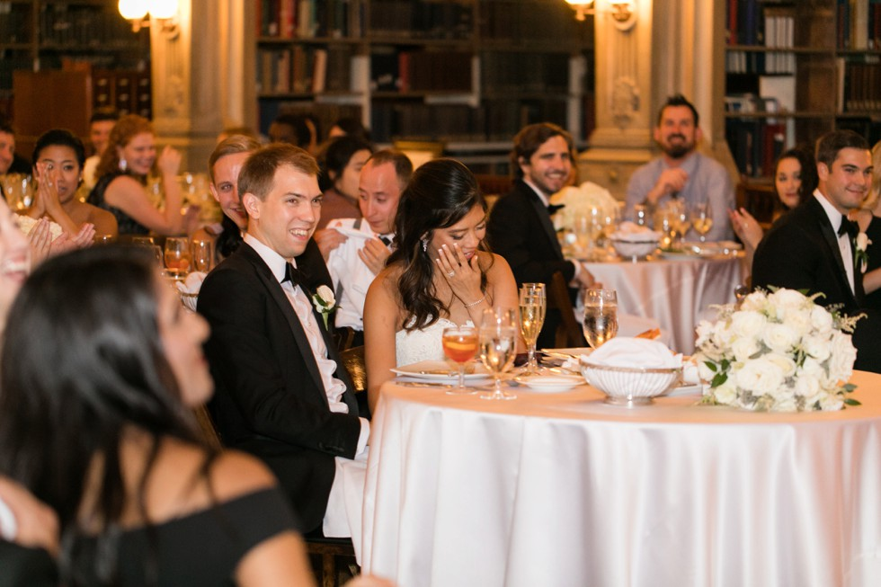 George Peabody Library Events wedding toasts