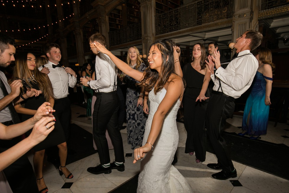 Baltimore George Peabody Library wedding reception dancing