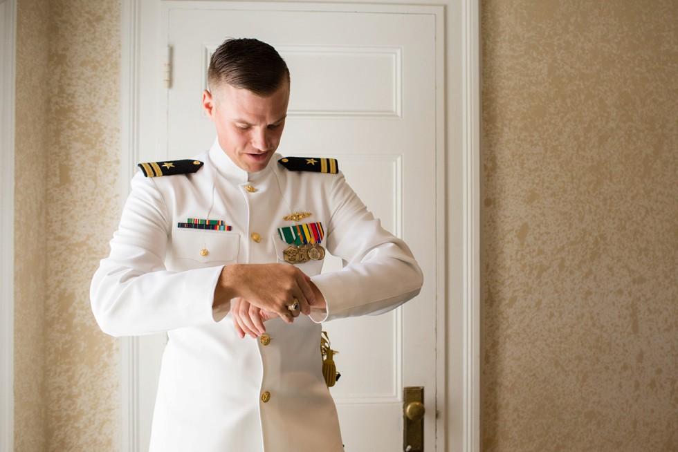 Navy issue US Naval academy graduate wedding