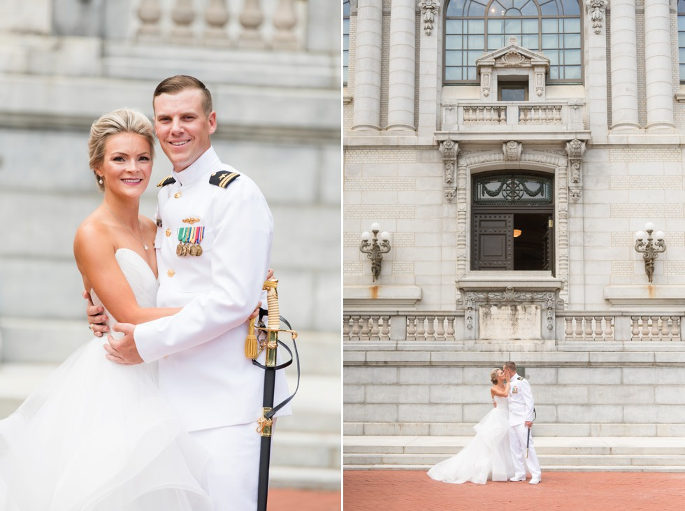 First look outside Mahan Hall US Naval Academy