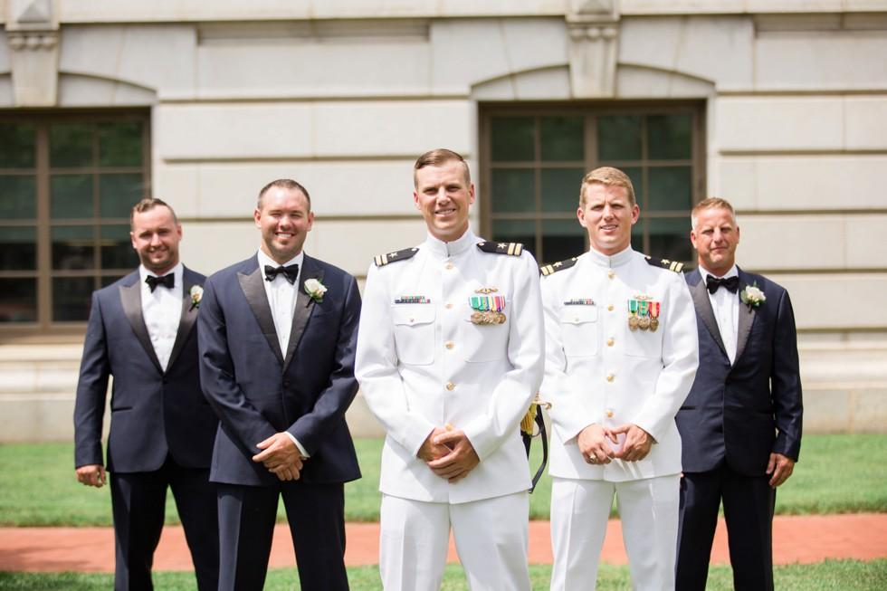 Groomsmen Mahan Hall US Naval Academy