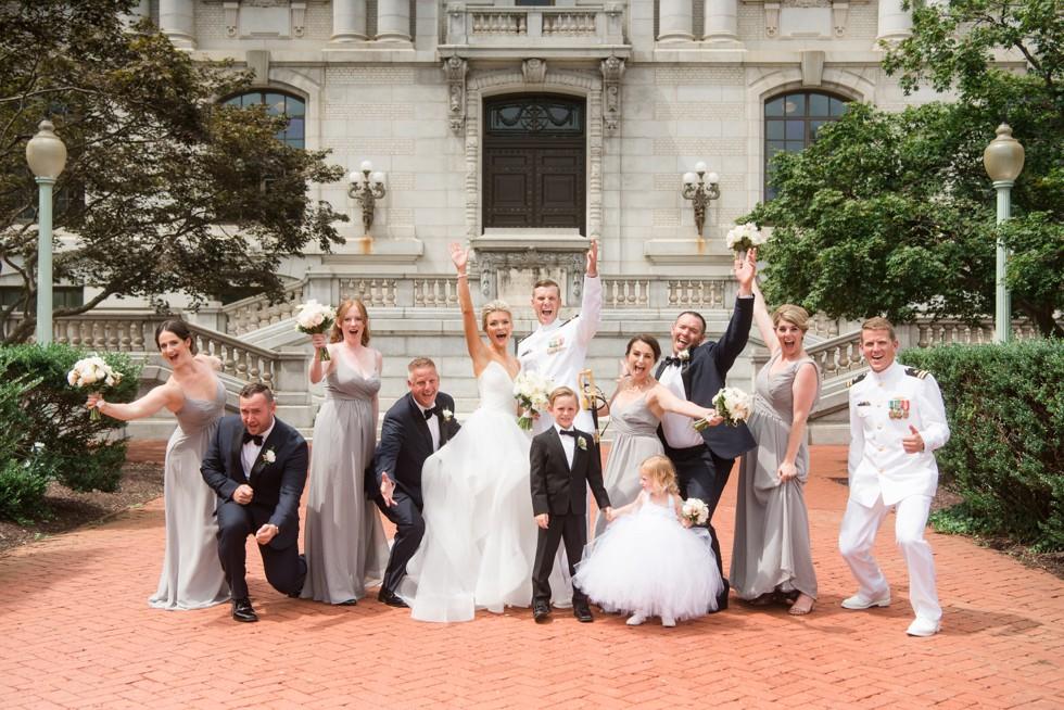 Wedding Party Mahan Hall US Naval Academy