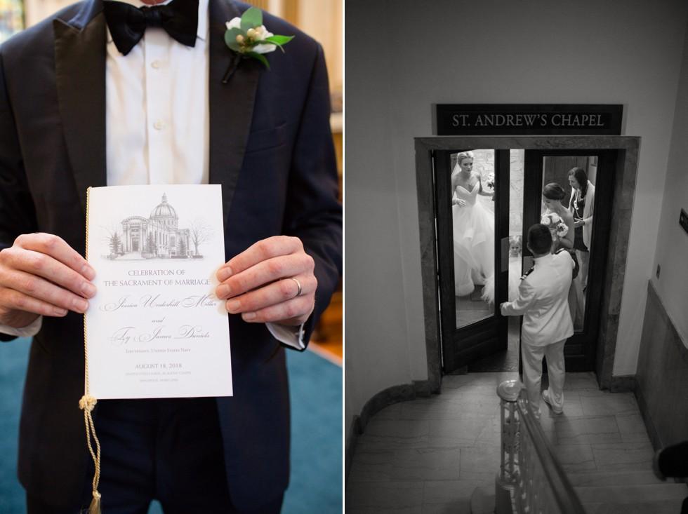 Cink Art United States Naval Academy chapel wedding ceremony