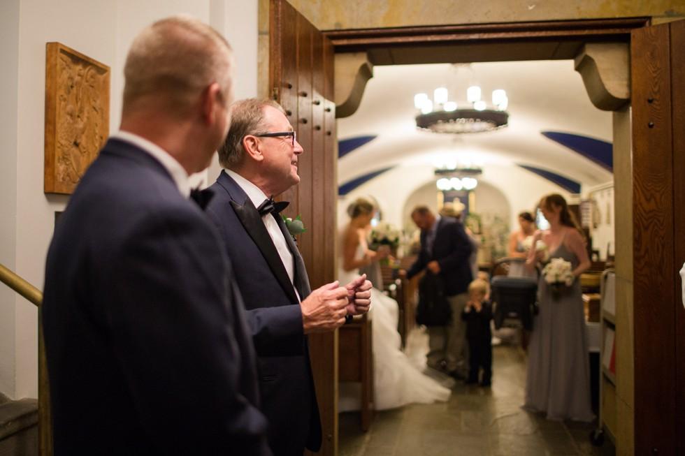 United States Naval Academy chapel wedding ceremony