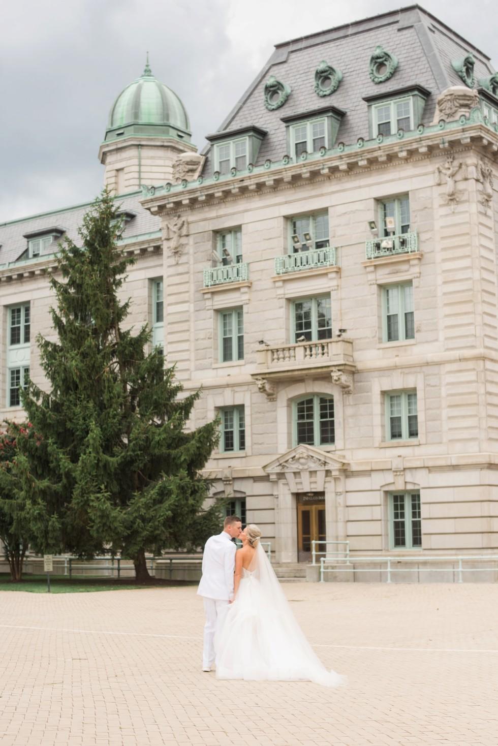 Bancroft Hall bride and groom photos