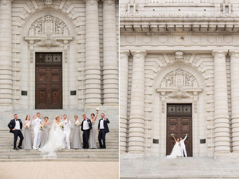 Bancroft Hall wedding party photos