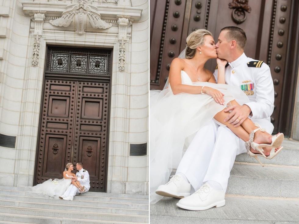 Navy wedding at USNA