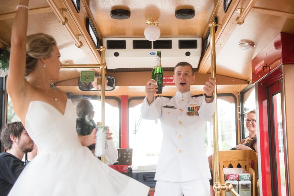 champagne toast groom