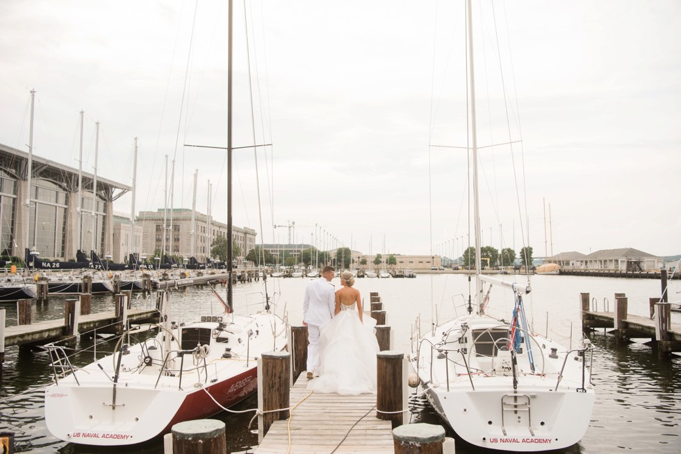 wedding photo with Sailboats in Annapolis