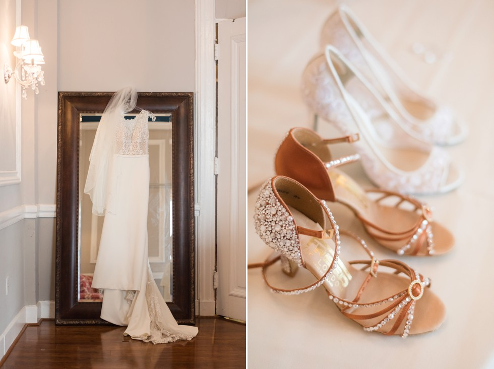 Belvedere Bridal prep in Baltimore Freed dance shoes