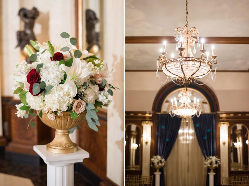 Anns Garden Belvedere Baltimore Indoor wedding Ceremony