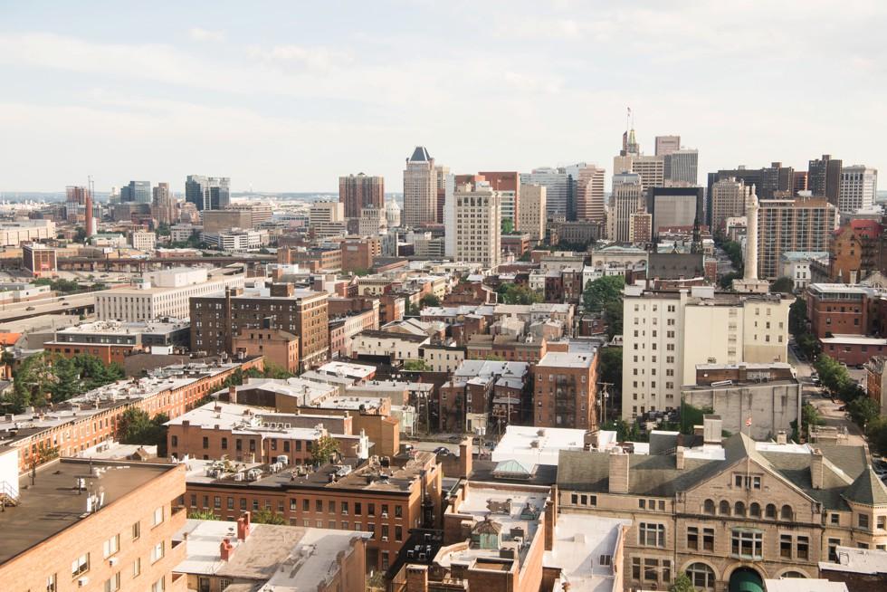 Baltimore city sky line