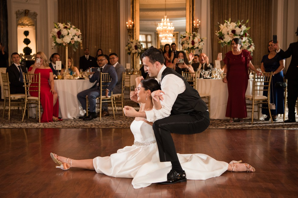 Belvedere Hotel Charles Ballroom first dance