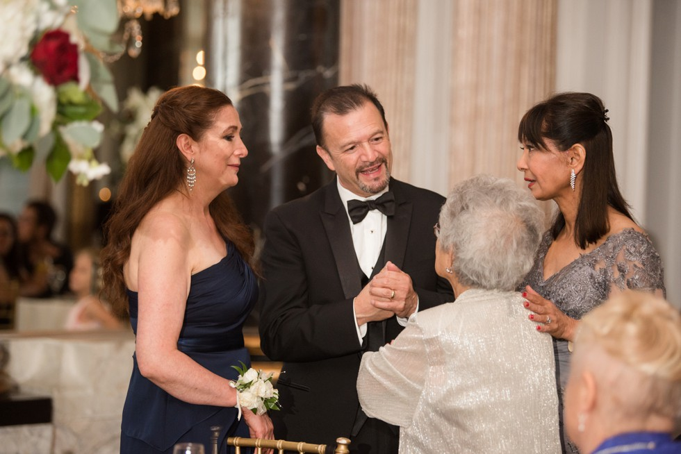 Belvedere Hotel Charles Ballroom wedding reception toasts