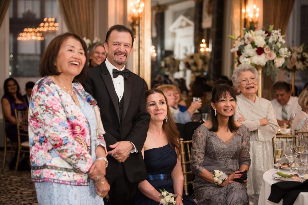 Belvedere Hotel Charles Ballroom wedding reception