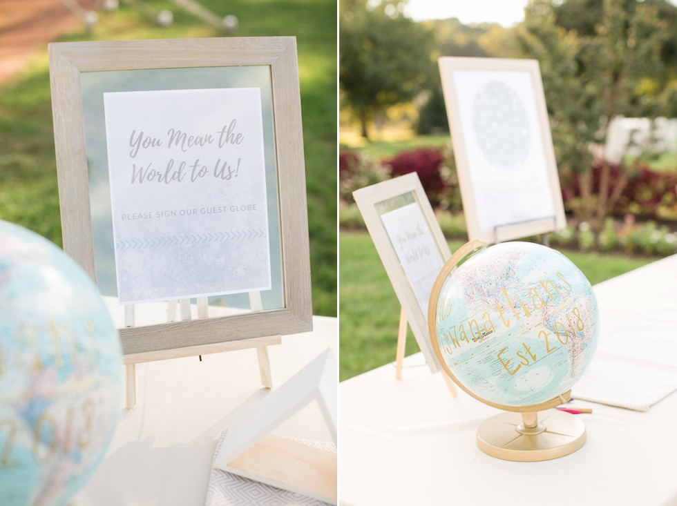 You mean the world to us wedding sign