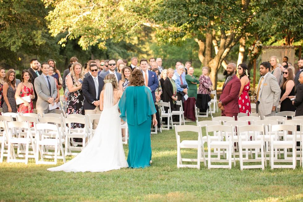 Outdoor wedding ceremony Belmont Manor