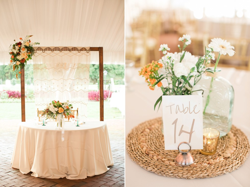 Eleven Course Catering wedding reception decor by Chantilly Design & Events