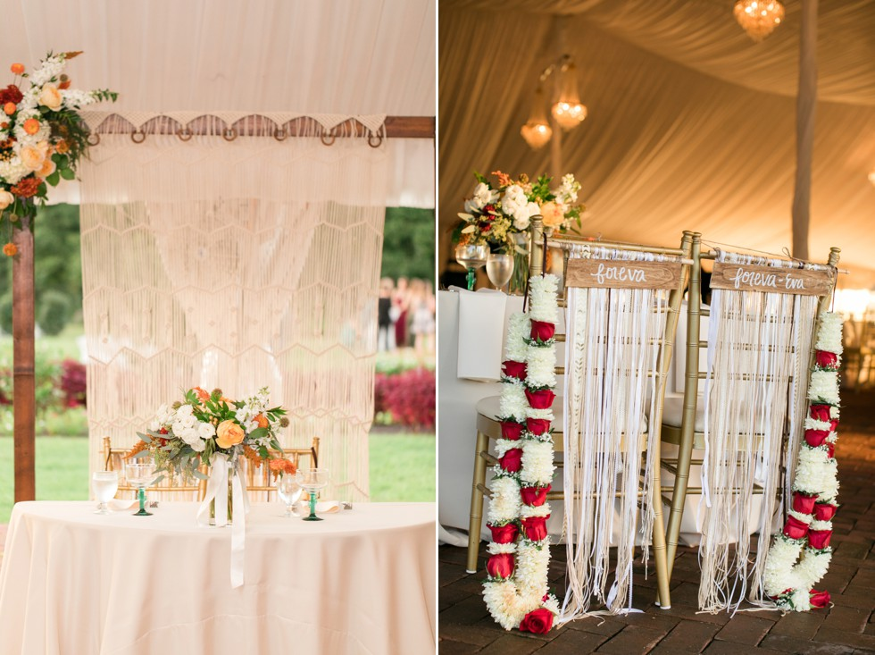 wedding reception decor by Chantilly Design & Events