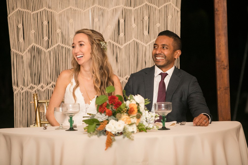 Belmont Manor & Historic Park wedding reception toast