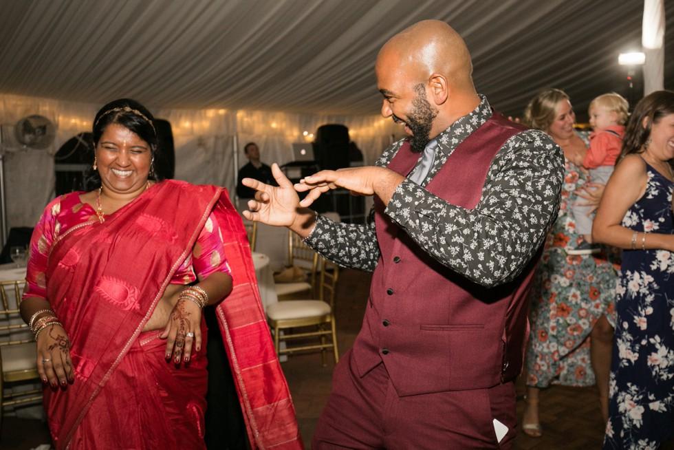 Belmont Manor wedding reception dancing