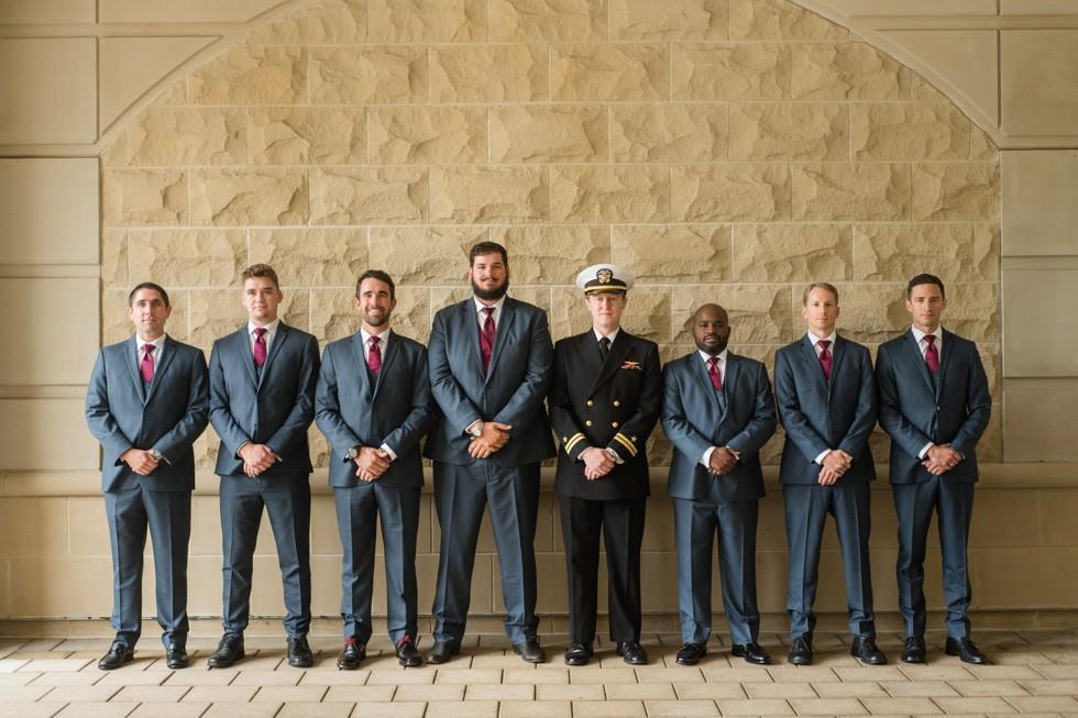 Westin Annapolis wedding groomsmen