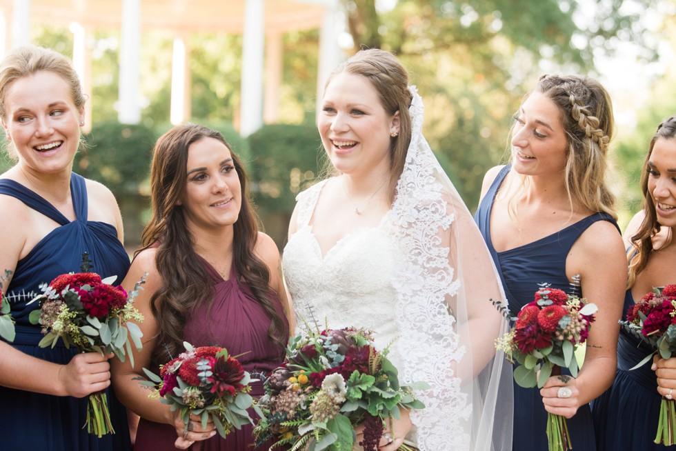 USNA Garden Wedding party photos