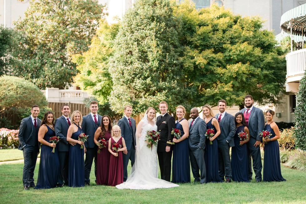 Superintendent's Garden USNA wedding
