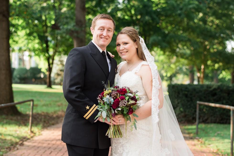 Superintendent's Garden USNA wedding photos