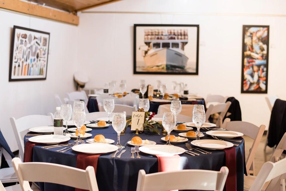 Annapolis Maritime Museum wedding decor