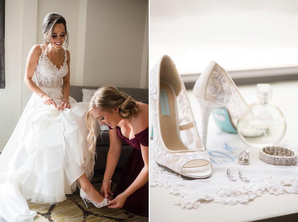 Hotel Indigo Baltimore wedding bride getting ready
