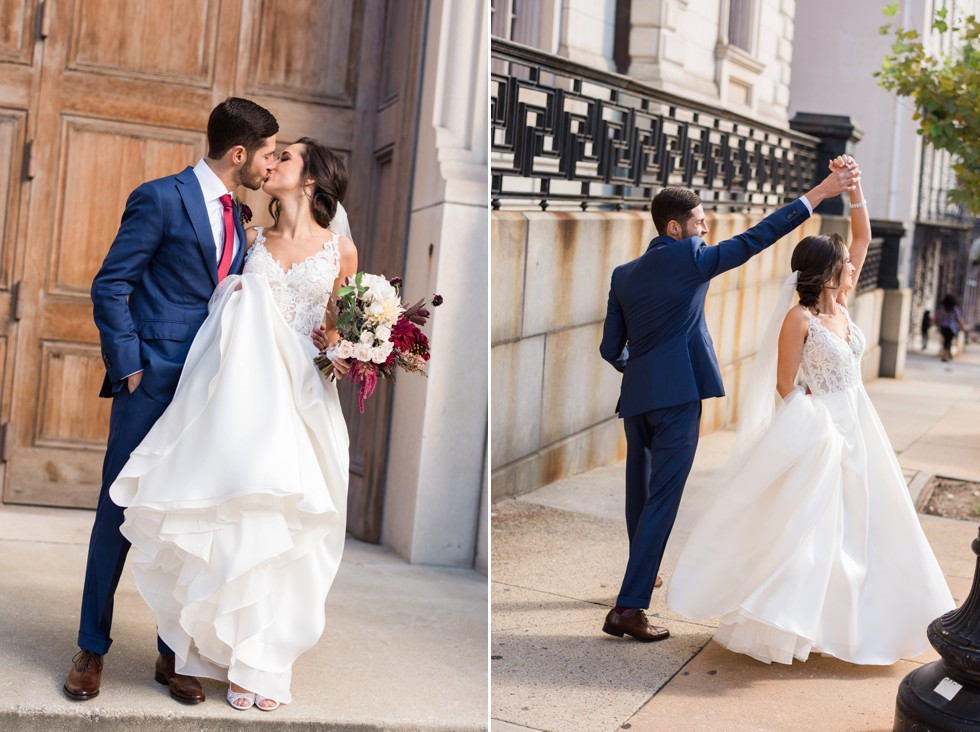 Peabody Library Wedding photos