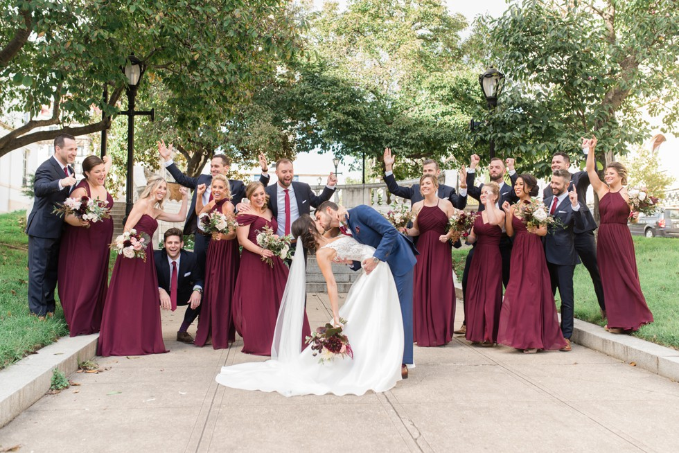Wedding photos in George Peabody Library