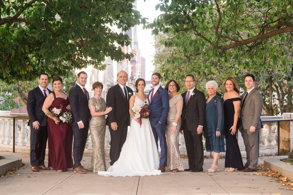 Wedding Family Mount Vernon Place across from Walters Art Museum