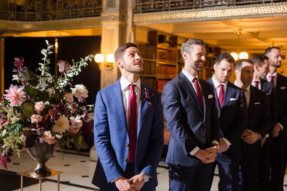 George Peabody Library Johns Hopkins University Wedding ceremony