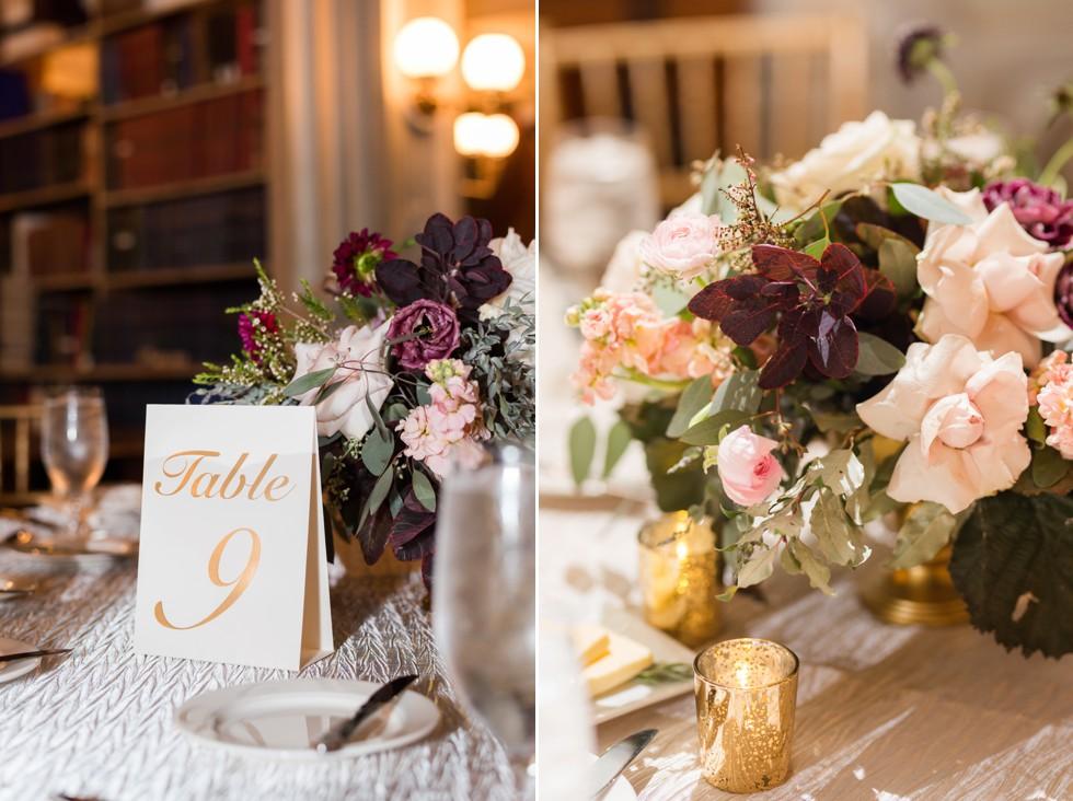 George Peabody Library Wedding maroon SteelCutFlowers