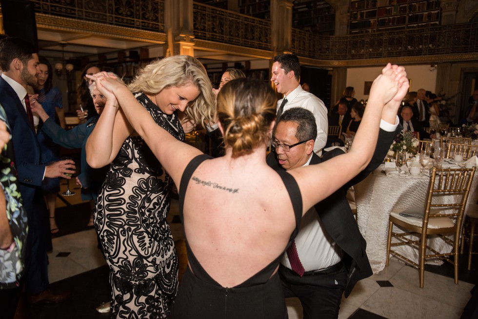 George Peabody Library wedding reception by Nouvelle Weddings