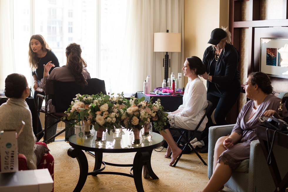 Alison Harper & Co Baltimore Marriott waterfront wedding getting ready