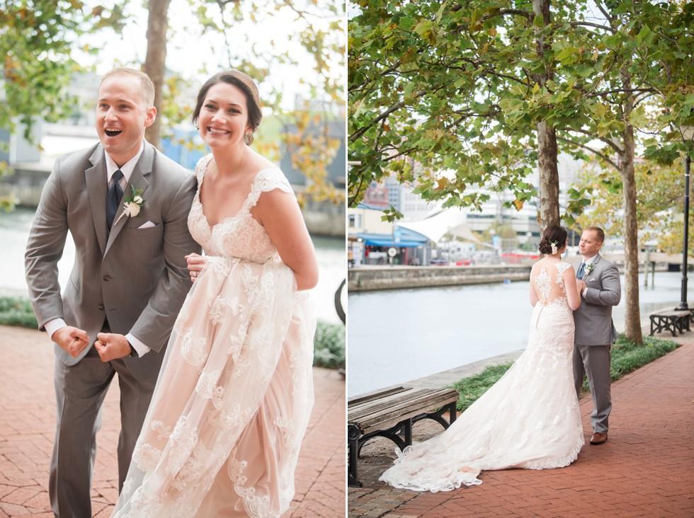 Baltimore Marriott waterfront wedding photos