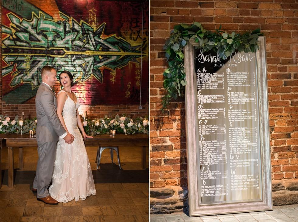graffiti wedding photos in Baltimore
