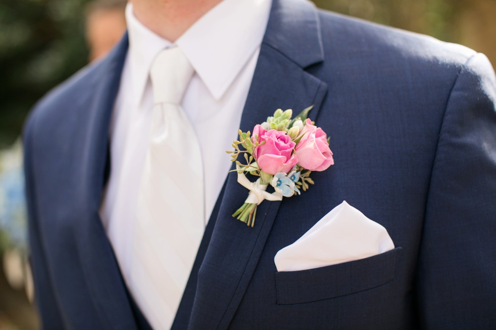 boutonniere Floret and Vine annapolis wedding